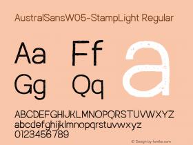 AustralSansW05-StampLight