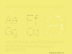 AustralSansW03-SpotsThin