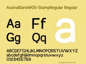 AustralSansW05-StampRegular