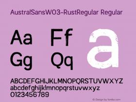 AustralSansW03-RustRegular