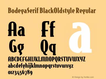 BodegaSerif BlackOldstyle