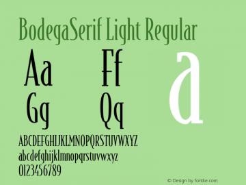 BodegaSerif Light