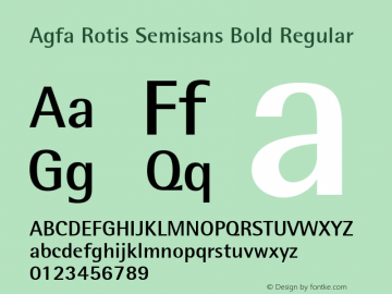 Agfa Rotis Semisans Bold