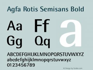 Agfa Rotis Semisans