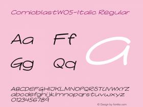 ComicblastW05-Italic