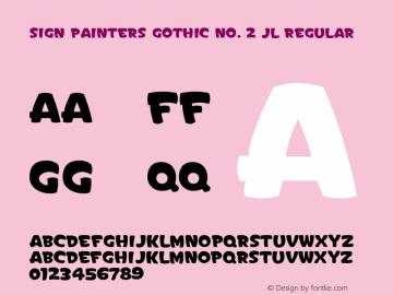 Sign Painters Gothic No. 2 JL