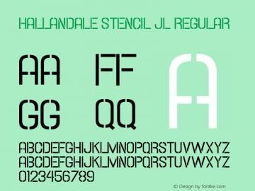 Hallandale Stencil JL