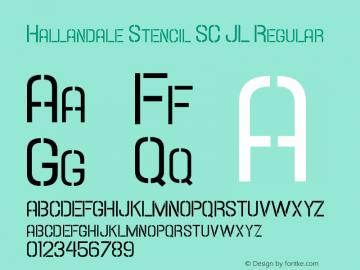 Hallandale Stencil SC JL