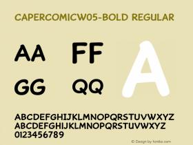 CaperComicW05-Bold