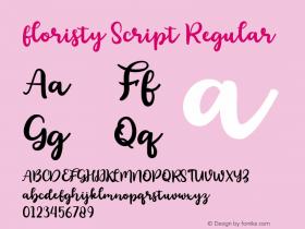 floristy Script