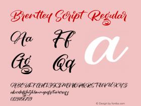 Brentley Script