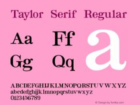 Taylor Serif