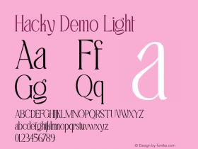 Hacky Demo