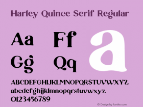 Harley Quince Serif