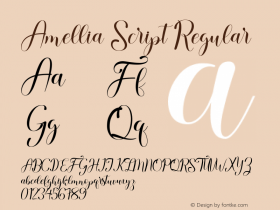 Amellia Script
