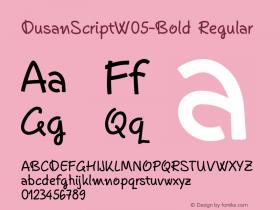 DusanScriptW05-Bold