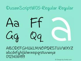DusanScriptW05-Regular