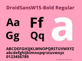 DroidSansW15-Bold