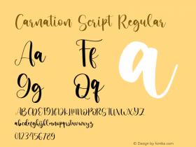Carnation Script