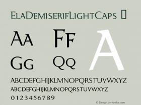 ElaDemiserifLightCaps