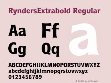 RyndersExtrabold