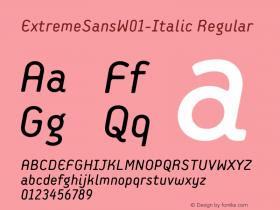 ExtremeSansW01-Italic