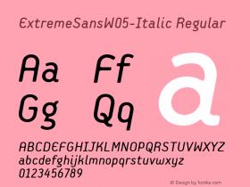 ExtremeSansW05-Italic