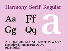 Harmony Serif