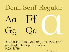 Demi Serif
