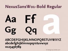 NexusSansW01-Bold