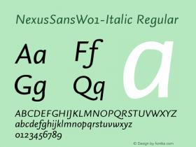 NexusSansW01-Italic