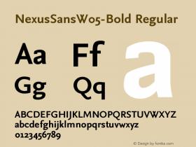 NexusSansW05-Bold