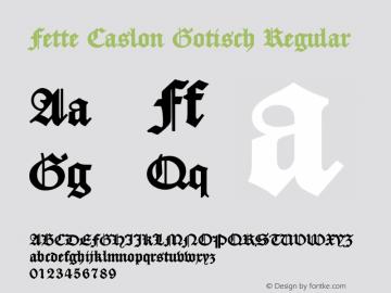 Fette Caslon Gotisch
