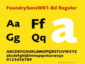FoundrySansW01-Bd
