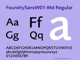 FoundrySansW01-Md
