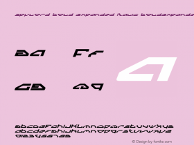 Spylord Bold Expanded Italic