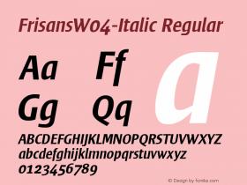 FrisansW04-Italic
