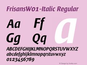 FrisansW01-Italic