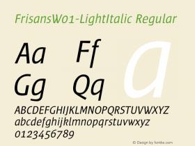 FrisansW01-LightItalic
