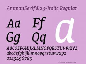 AmmanSerifW23-Italic