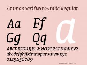 AmmanSerifW03-Italic