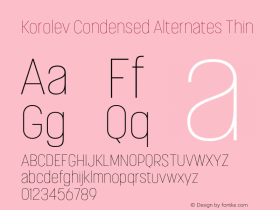 Korolev Condensed Alternates