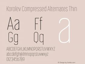 Korolev Compressed Alternates