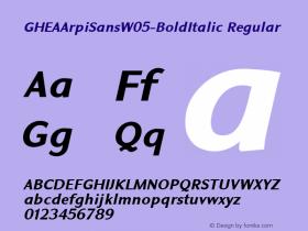 GHEAArpiSansW05-BoldItalic