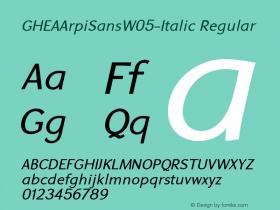 GHEAArpiSansW05-Italic