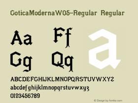 GoticaModernaW05-Regular