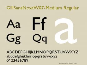 GillSansNovaW07-Medium