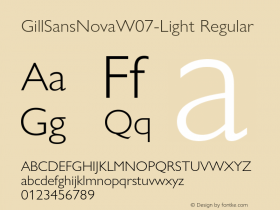 GillSansNovaW07-Light