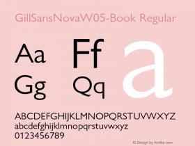 GillSansNovaW05-Book