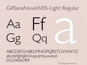 GillSansNovaW05-Light
